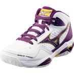 (セール)(送料無料)adidas(アディダス)バスケットボール レディース シューズ ウエーブ プライド BB2 13KL35067 ホワイトxパープル