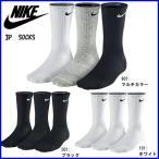 ショッピングソックス ☆DM便で送料無料  ナイキ 3足 セット クッションクルーソックス 3P 靴下 SX4700
