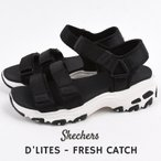 スケッチャーズ SKECHERS レディース サンダル スポサン カジュアル ファッション D'LITES - FRESH CATCH  31514 BLK  黒