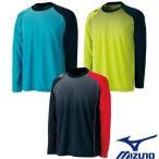 MIZUNO-ミズノ ユニセックス 長袖Tシャツ/プラクティスシャツ テニス・ソフトテニスウェア/バドミントンウェア/ユニホーム
