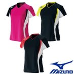 MIZUNO-ミズノ ウイメンズ/女性用 半袖ゲームシャツ/ユニホーム テニス・ソフトテニスウェア/バドミントンウェア/ユニホーム