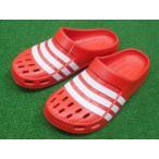 adidas-アディダス デュラモ クロッグ サンダル レッド スポーツサンダル/シャワーサンダル
