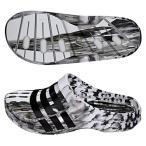 adidas-アディダス デュラモ クロッグ サンダル ホワイト×ブラック スポーツサンダル/シャワーサンダル