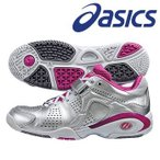 asics-アシックス フィーノレジーナ OC シルバー×ピンク オムニ・クレーコート兼用 テニス/ソフトテニスシューズ