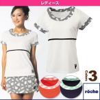 [ローチェ(roche) テニス・バドミントンウェア(レディース)]レディースゲームシャツ/レディース(R6S46V)