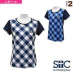 [セントクリストファー テニス・バドミントンウェア(レディース)]グリッドチェック ゲームTシャツ/レディース(STC-AGW6043)