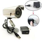 USB給電 3.6mm広角レンズ 防犯カメラ 録画装置 micro sd カード対応