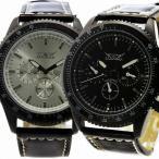 自動巻き腕時計 メンズ腕時計 マルチカレンダー デイデイト 日付表示 レザーベルト 男性用 JARAGAR ジャラガー BCG37