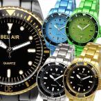 お1人様2点限りセール 腕時計 メンズ腕時計 回転ベゼル 1カラーコーティング  メタルベルト クォーツ 男性用 JH27
