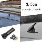 ショート アンテナ カーボン調 車 汎用 カー用品 外装 3.5cm 色ブラック 送料無料