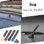 ショート アンテナ カーボン調 車 汎用 カー用品 外装 8cm 送料無料