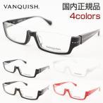 ■レンズセット■ ヴァンキッシュ VQ5041 全4色 メガネ 黒 逆リム スリム 眼鏡 メンズ めがね 新作 ロック VANQUISH アンダーリム 逆ナイロール ブラック