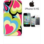 ショッピングiphone4s iphone4s iPhone4s iPhone 4s ケース ハードケース ジャケット プッチ-G 幾何学 カラフル ハート