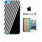 ipod touch 5 iPodTouch5 アイポッドタッチ5 ケース ハードケース カバー ジャケット ストライプ a002黒-sslink
