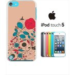 ipod touch 5 iPodTouch5 アイポッドタッチ5 ケース ハードケース ジャケット ビンテージフラワーA 花柄 蝶 バラ ローズ レトロ