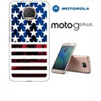 Moto G5s Plus Motorola モトローラ ホワイトハードケース カバー ジャケット ca589 写真 国旗 星条旗 アメリカ国旗