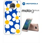 Moto G5s Plus Motorola モトローラ ホワイトハードケース カバー ジャケット ca680-2 花柄 レトロ