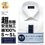 ワイシャツ メンズ 長袖 超 形態安定 ノーアイロン 白 無地 綿100% |Yシャツ ドレスシャツ カッターシャツ ORANTIS