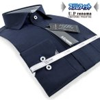 U.P renoma | メンズワイシャツ・形態安定・スリムフィット・ショートホリゾンタル・ダークカラーシャツ