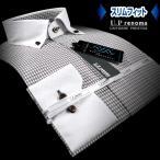U.P renoma | メンズワイシャツ・形態安定・スリムフィット・幾何柄・ボタンダウン・クレリックシャツ
