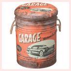アンティーク調なペール缶スツール(A)4Pセット