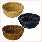 『PP』耐熱・食洗機対応の丸タイプ小物バスケット「24×10cm」/3種類