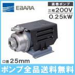 エバラ 循環ポンプ ステンレス製渦巻ポンプ SCD型 25SCD6.25