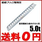 昭和ブリッジ アルミブリッジ 2本セット アルミラダーレール 5.0t 302×53cm [脚立 軽トラック 荷台]