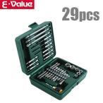 E-Value インパクトドライバー ビットセット ビット&ソケットセット BS-4 29PCS