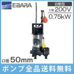 エバラポンプ 水中ポンプ 自動 汚水 汚物用 DWV型 50DWVA5(6).75B 200V