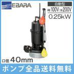 荏原 自動形 水中ポンプ 汚水用 排水ポンプ 40DSA5(6).25(S)