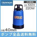 寺田 水中ポンプ 小型 排水ポンプ S-220 220W/100V [工事用 汚水用 家庭用 電動]
