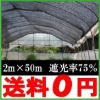 遮光ネット 黒 2m×50m 遮光率75% 農業用遮光ネット [農業資材 農業用品 園芸用品 日よけ 農業用ネット]