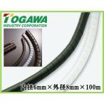 十川産業 スパイラルチューブ SSPT-0608 内径6mm×外径8mm×100m コイル型配線カバー ブラック/ナチュラル