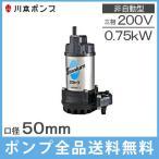 川本製作所 水中ポンプ 海水用チタンポンプ WUZ3-505(6)-0.75G