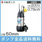 川本製作所 自動型 水中ポンプ 海水用チタンポンプ WUZ3-505(6)-0.75LG
