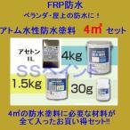 アトムハウスペイント 水性防水塗料 FRP用 4m2用セット