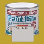 アトムハウスペイント 水性さび止め塗料 水性さび止め・鉄部用  色:つや消しグレー 200ml ※こちらは下塗り専用色です