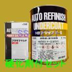 ロックペイント 202-2105 HBプラサフF.II(ホワイト) 202-0110 硬化剤付セット 5.4kg