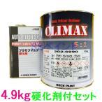 ロックペイント 202-6990 プラサフクライマックス(ブラック) 202-0110 硬化剤付セット 4.9kg
