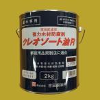 吉田製油所 クレオソート油R 強力木材防腐剤 色:こげ茶 2kg