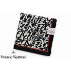 ヴィヴィアン ウエストウッド レディース ハンカチ 1枚 Vivienne Westwood ブラック ホワイト メッセージ デザイン