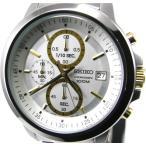 即納可 セイコー クロノグラフ 腕時計 逆輸入 SKS447P1