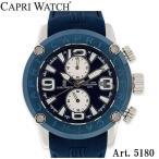 CAPRI WATCH カプリウォッチ BLUE Silver 5180 CAPRIWATCH クロノ クロノグラフ 腕時計 メンズ 時計 ウォッチ プレゼント 贈り物 新生活 記念日 ギフ