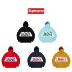 正規品 シュプリーム パーカー ラコステ Supreme LACOSTE Logo Panel Hooded Sweatshirt パーカー メンズ レディース 本物