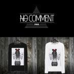 NO COMMENT PARIS ノーコメントパリ 長袖 Tシャツ ブラック ホワイト メンズ 大きい 小さい ミニー・ピース MINNE Peace-LTN35