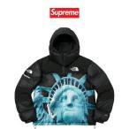 正規品 シュプリーム ノースフェイス バルトロ ダウンジャケット Supreme The North Face Statue of Liberty Baltoro Jacket ブラック メンズ レディース 本物