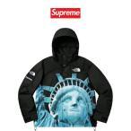 正規品 シュプリーム ノースフェイス マウンテン ジャケット Supreme Statue of Liberty Mountain Jacket ブラック メンズ レディース 本物