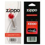 ZIPPO ジッポ ライター ウィック 替え芯(1本入)&着火石 フリント(6石入)セット 並行輸入品