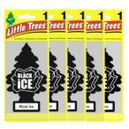 Little Trees リトルツリー Black Ice ブラックアイス5枚セット 釣り下げ式 芳香剤 人気No1 並行輸入品
